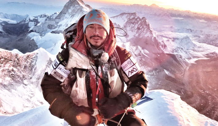 Nepali climber set for final push in record 14-peak bid