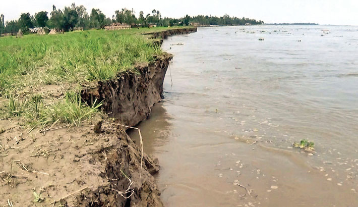 Erosion by the Teesta river