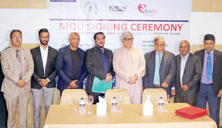 Contract signing held among NUB, KI, RIC