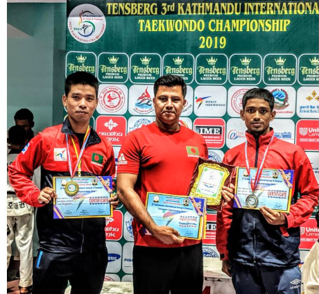 Dipu Chakma clinches gold medal in Kathmandu Int'l Taekwondo Champs