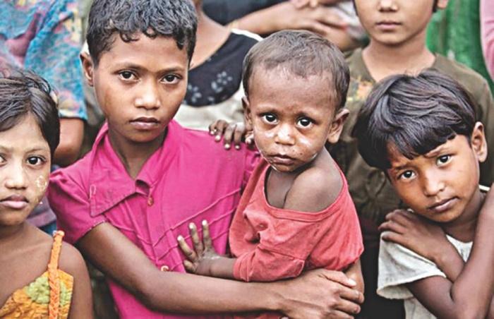 Pangs of diseases forcing Rohingya children face ordeal