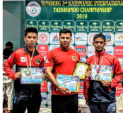 Dipu Chakma clinches gold medal in Kathmandu Int'l Taekwondo Champs