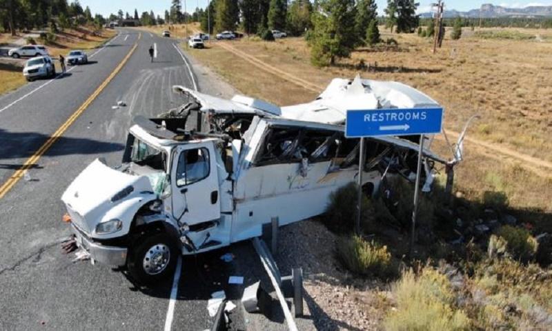 US tourist bus crash kills at least four, injures more