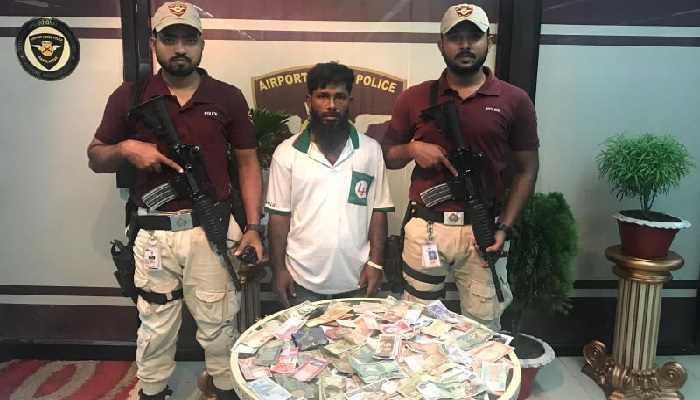 Man arrested with currency notes of 46 countries at Dhaka airport