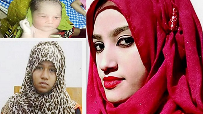 Nusrat murder accused Moni gives birth to a baby girl