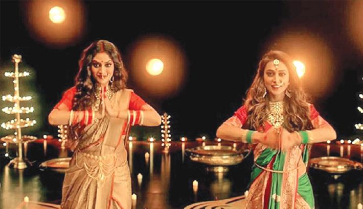 Nusrat, Mimi dance for Durga Puja theme song