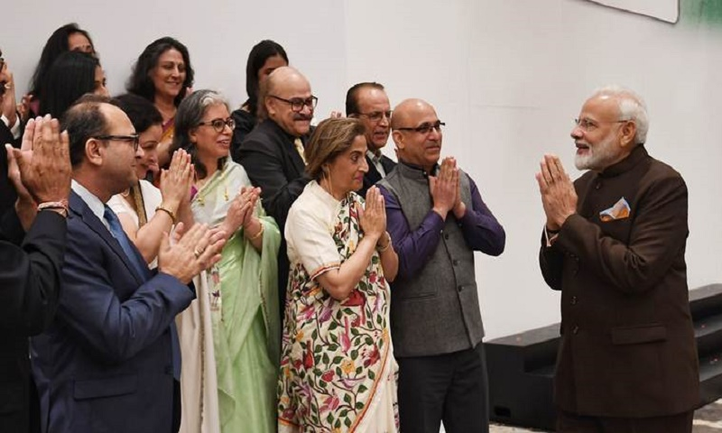 Indian Prime Minister Modi meets religious communities in US
