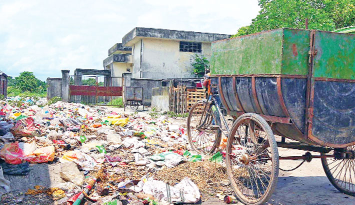 Waste from different areas of Chandpur town