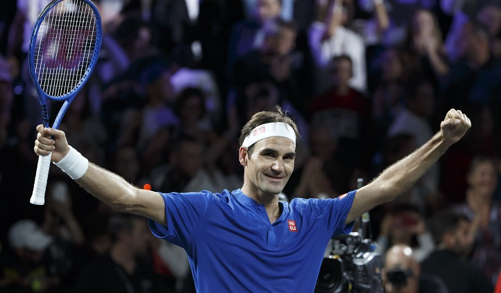 Federer wins with a little help from friends Nadal and Borg