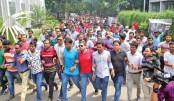 Procession at Dhaka University