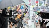 Fresh clashes outside Hong Kong mall