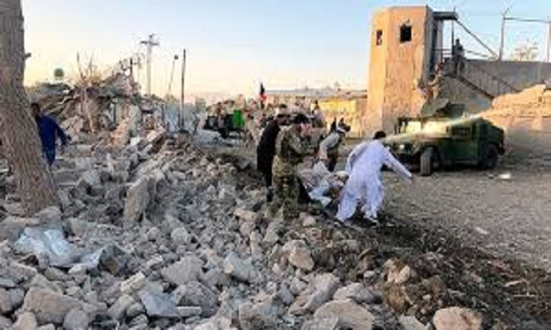 A strike targeting Taliban kills 40 civilians at a wedding next door