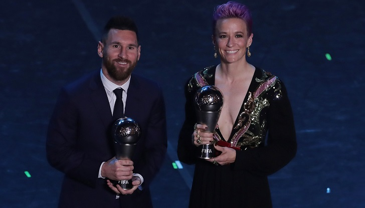 Messi wins FIFA player of the year as Ronaldo skips ceremony