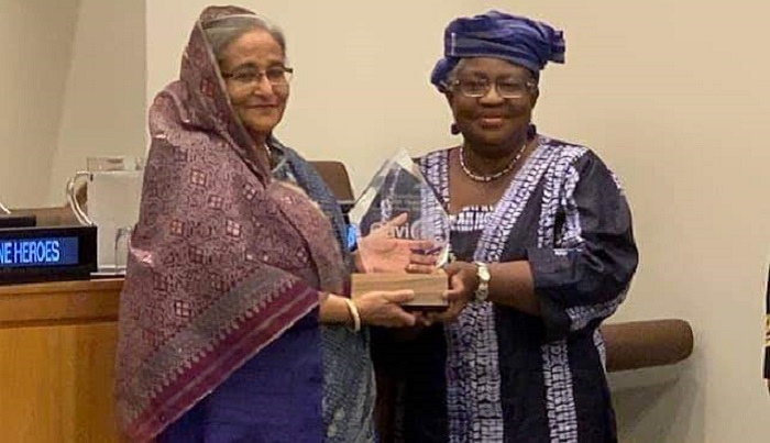 Prime Minister Sheikh Hasina receives 'Vaccine Hero' award