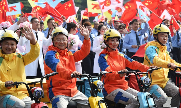 China bursts into celebration on National Day