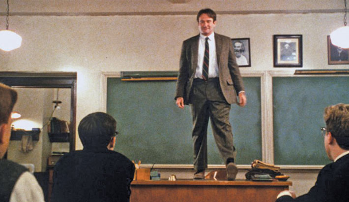 Pedagogical excellence of the English Teacher of 'Dead Poets Society'