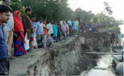 Dudhkumer River devours over 200 dwellings, croplands in Kurigram
