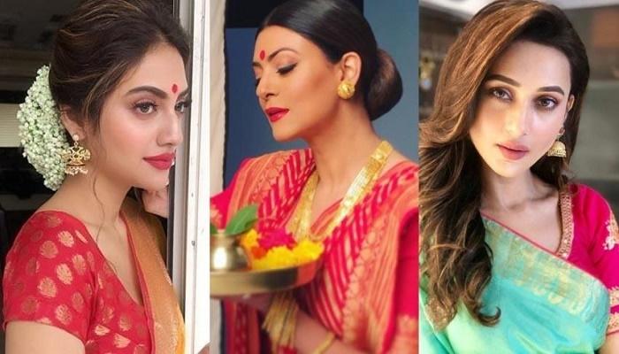 Sushmita Sen, Nushrat Jehan, Charu Asopa celebrate Durga Puja