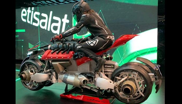 Etisalat Unveils 5G flying motorbike at GITEX 2019