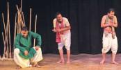 'Sanglap' stages drama at BSA on Durga Puja