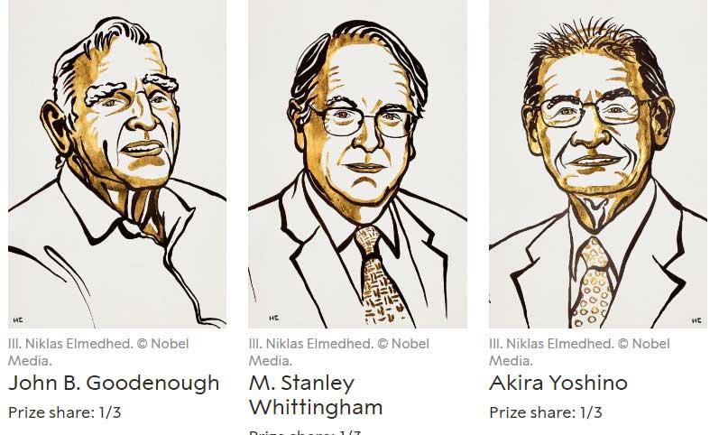 Trio win Nobel Prize in Chemistry