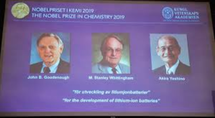 Nobel prize honors breakthroughs on lithium-ion batteries