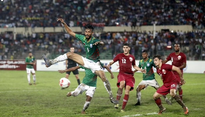 Bangladesh concede 0-2 defeat against Qatar
