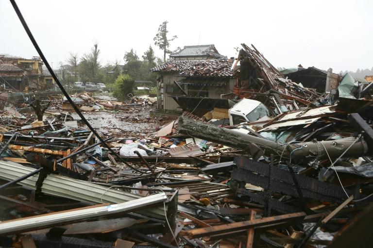Two dead as 'unprecedented' Typhoon Hagibis slams into Japan