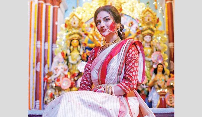 Nusrat reacts to criticism for celebrating Durga Puja