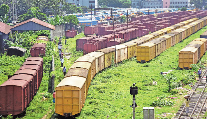 The bogies of trains getting damaged