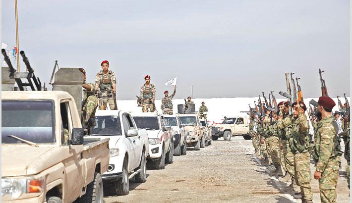 Turkey bombards Syrian Kurdish militia