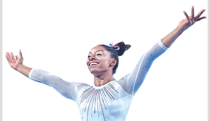Biles wins fifth all-around gymnastics title