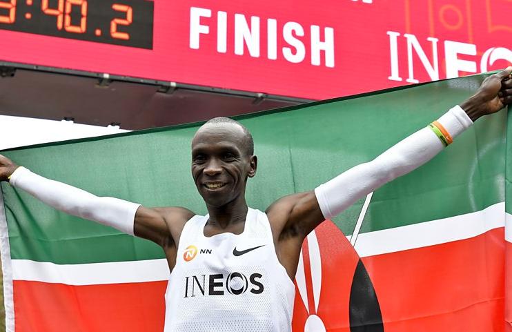 Kipchoge breaks two-hour marathon mark by 20 seconds