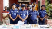 Six Shibir men held with cocktails, jihadi books in Naogaon