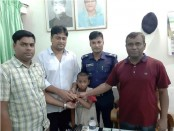 Rescued child handed over to relatives in Chandpur