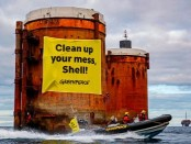 Greenpeace activists board Shell North Sea platforms