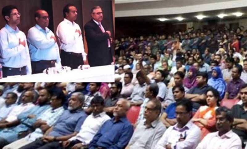 Teachers, students including VC take oath, BUET movement postponed