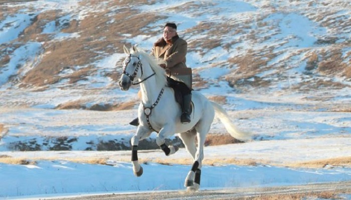 Kim Jong-un: North Korean leader rides horse up sacred mountain