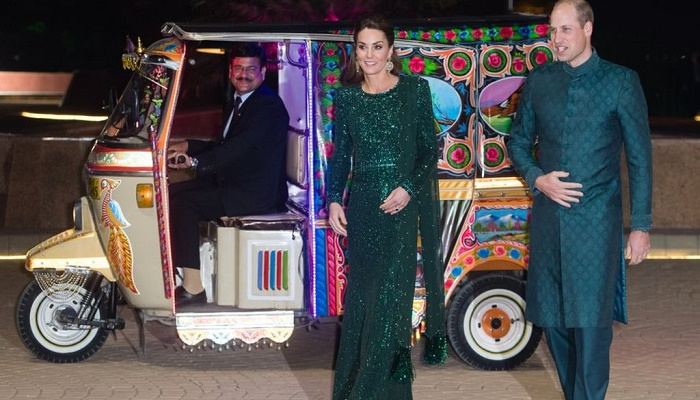 Prince William and Kate go to reception by auto rickshaw in Pakistan