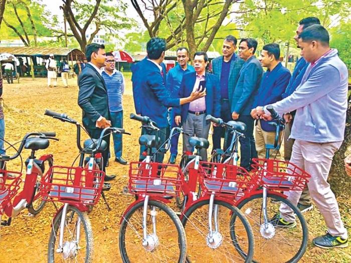 App-based bicycle service 'JoBike' starts journey at DU