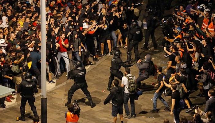 Catalan protests: Region's president urges immediate halt to violence
