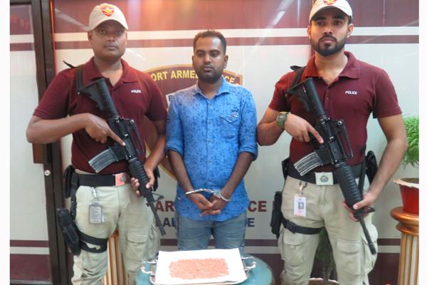 Man held with 1,800 Yaba pills at Dhaka airport