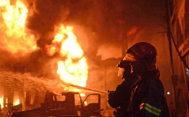 Cotton warehouse catches fire in Savar