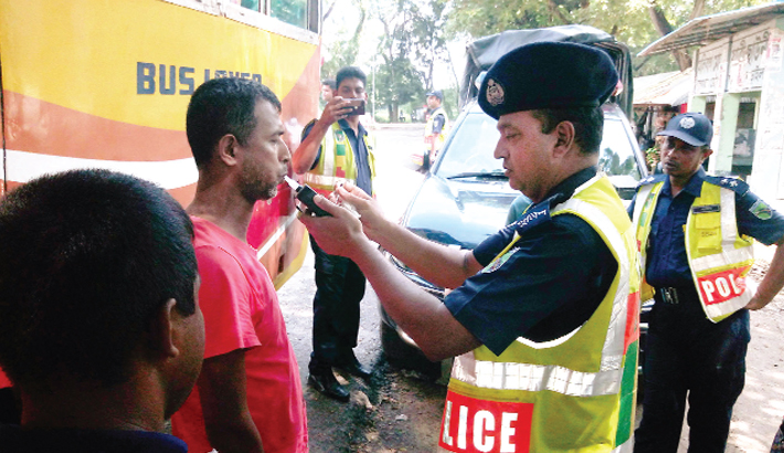 Highway police are using 'alcohol detector'
