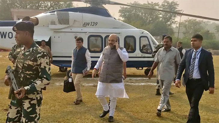 BJP chief Amit Shah's helicopter makes emergency landing