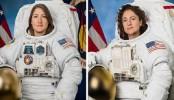 Nasa astronauts Christina Koch and Jessica Meir in all-women spacewalk