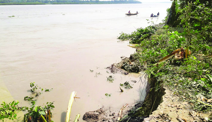 Erosion by the Nabaganga River has taken a serious turn