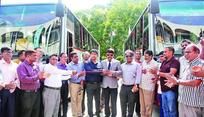 Inauguration two buses