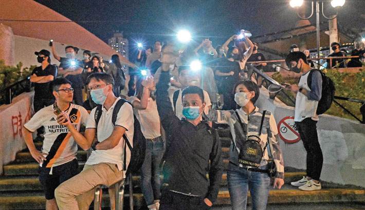 HK leader backs police use of force as protesters plan 'illegal' march