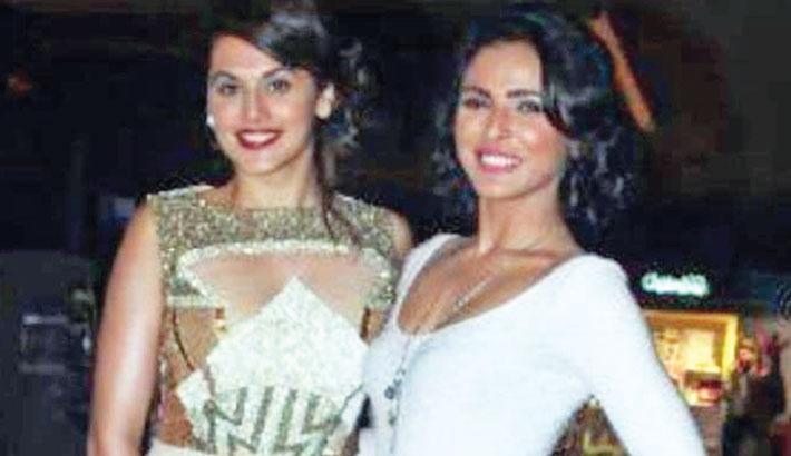 Taapsee, Madhurima reunite on the sets of Nach Baliye 9